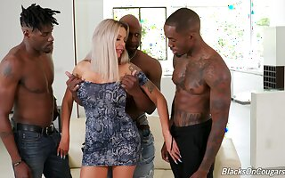 First time fucking in the ass with three black hunks