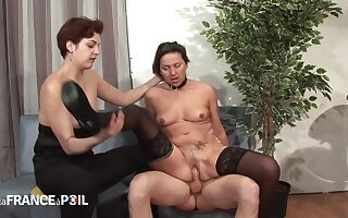 La France A Poil - Horny Pervert Joins Lesbians Be required of Thr