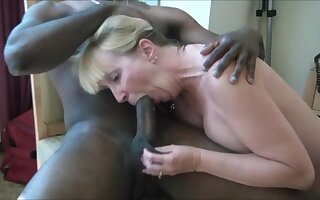 Very hot milf sucking bbc and get cum in mouth to the fullest extent a finally hubby recording