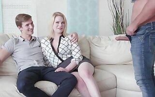 Cuckold boyfriend watches his GF Adry Berty having sex everywhere a stranger