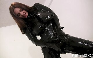 Wondrous nicely shaped nympho Mindi Mink is ready to attack latex lucubrate