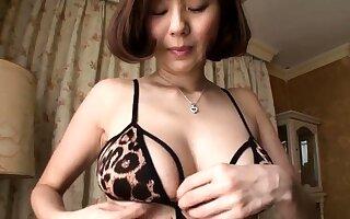 Horny Japanese MILF take two cocks