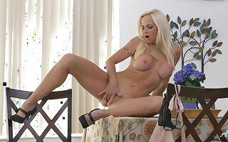 Amateur video of busty peaches cougar Dani Dare having some fun